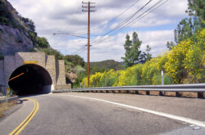 A tunnel on a roadway near Malibu, Calif.