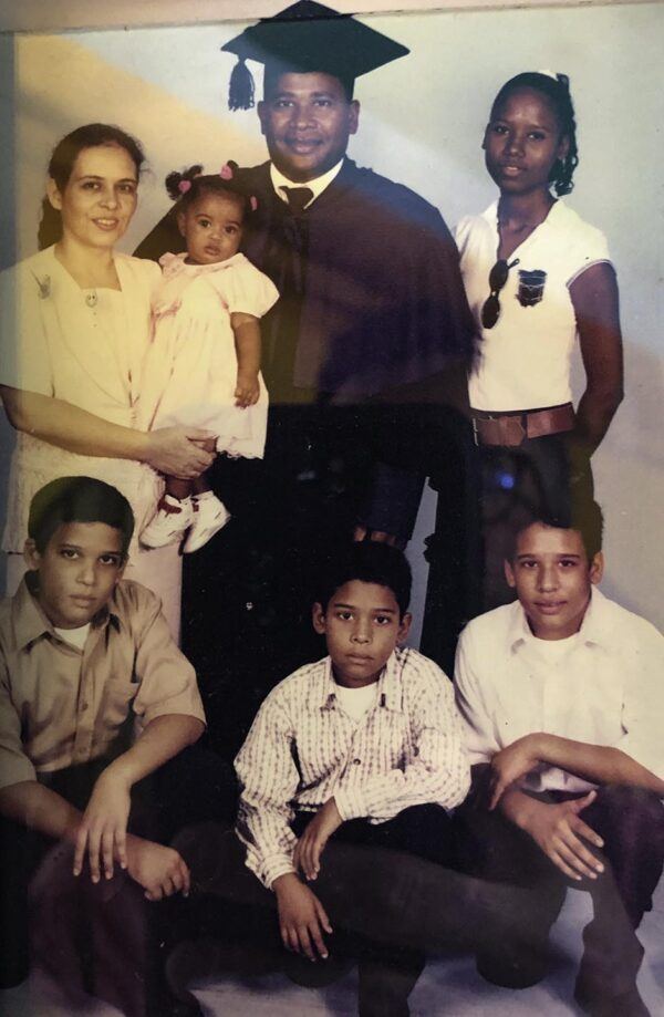 Ondina and Manuel Aquino with their family in an early photo.