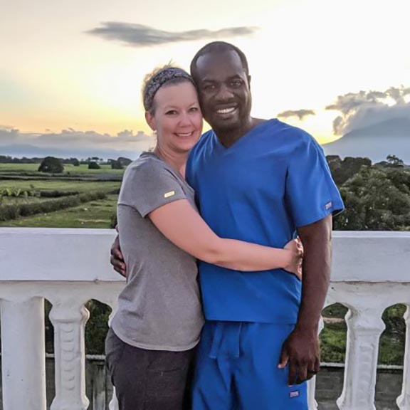 Dr. Luckson Previl and his wife, Erica.
