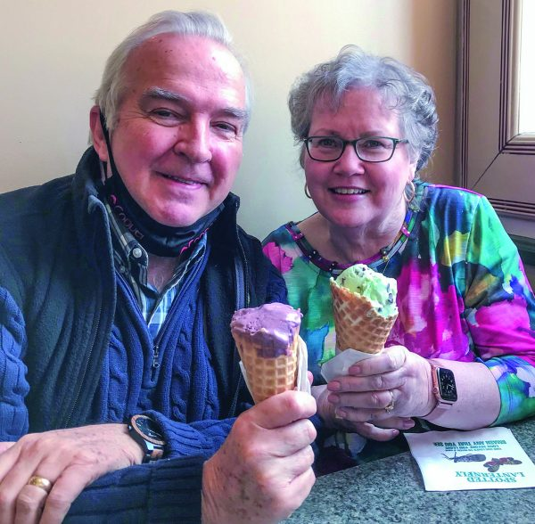 Dan and Katherine Cooper enjoy a treat.