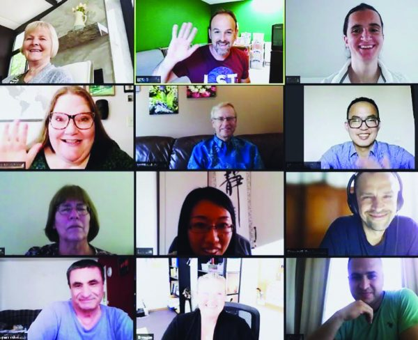 When the pandemic made travel impossible, Let's Start Talking readers and workers began meeting online. The pictured virtual mission project featured a host in Belgium.
