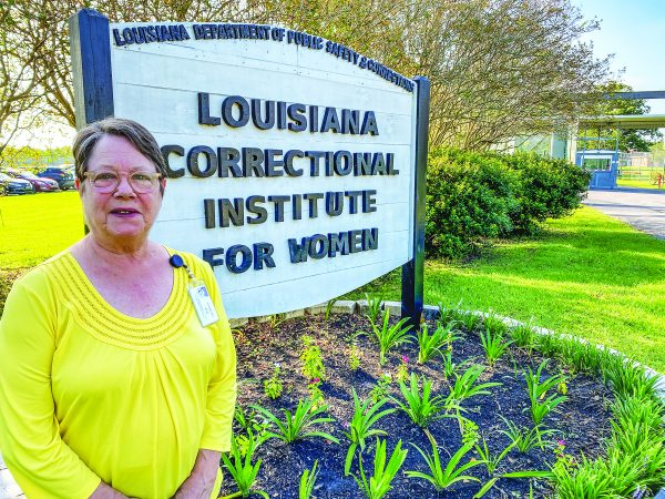 Glenda Tate stands outside one of the facilities where she has conducted countless Bible studies with inmates during the past four decades.