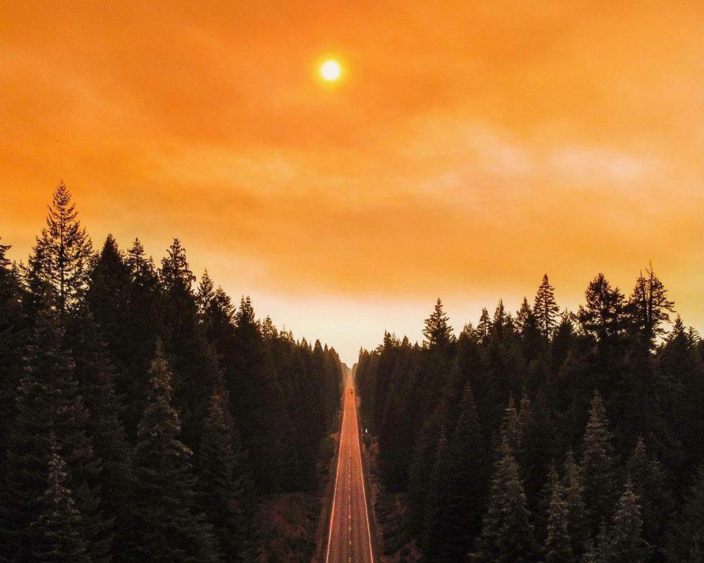 The Dixie Fire creates haze and smoke near Lake Almanor on July 17.