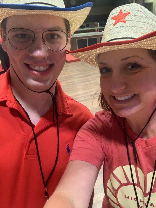 Connor Dawson (left) and Jessica Moore (right)
