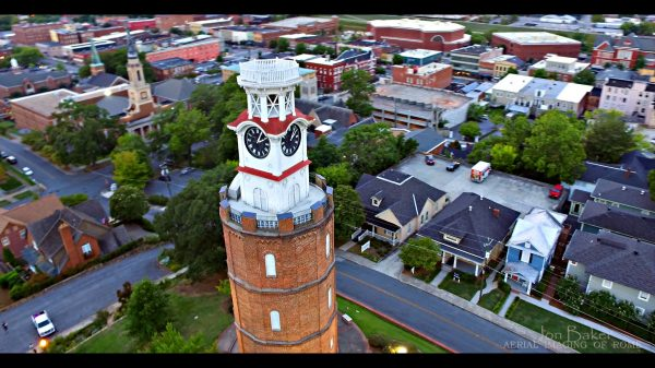 The clocktower in Rome, Ga., site of the American Mission Campaign.