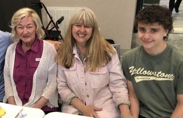 Dot Stewart with daughter Trina Muehring and grandson Jasper Muehring.