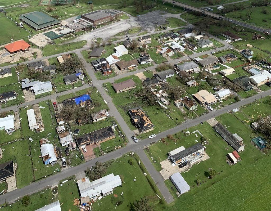 Damaged caused by Hurricane Ida