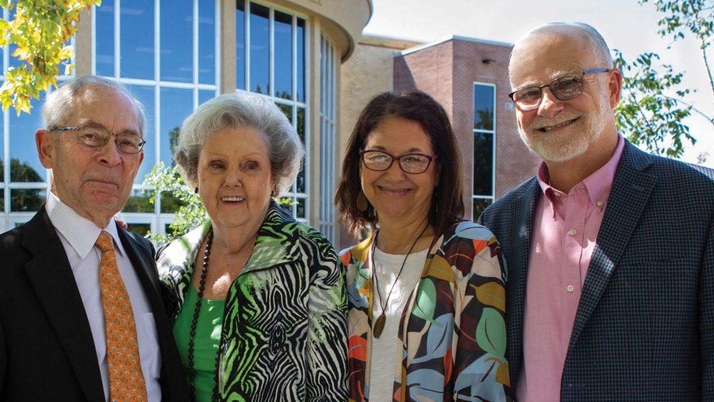 Pictured from left to right, Al Smith, Pat Smith, Dr. JoAnn Long, Dr. Jesse Long.