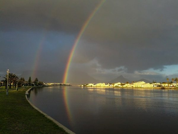 Johan Gerber captured this image of a rainbow near his home in 2021.