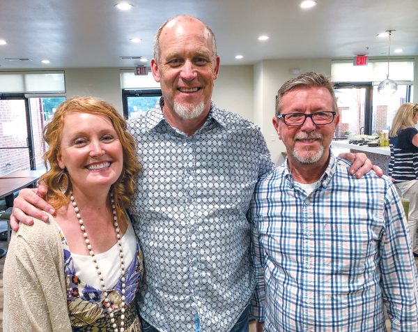 Among the São Paulo team's second generation are Chris Kreidel (center, with wife Cindy) and Kevin Stewart, minister for the Withamsville Church of Christ in Cincinnati. See more at christianchronicle.org/brazil60.