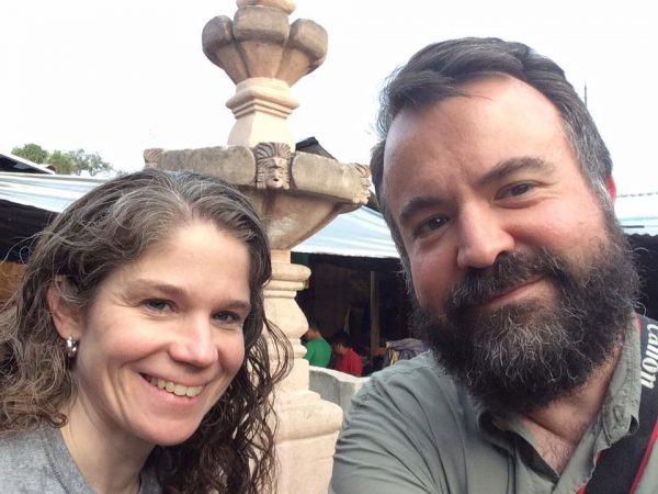 Dr. Jeanie and Erik Tryggestad in Chichicastenango, Guatemala, during a 2017
