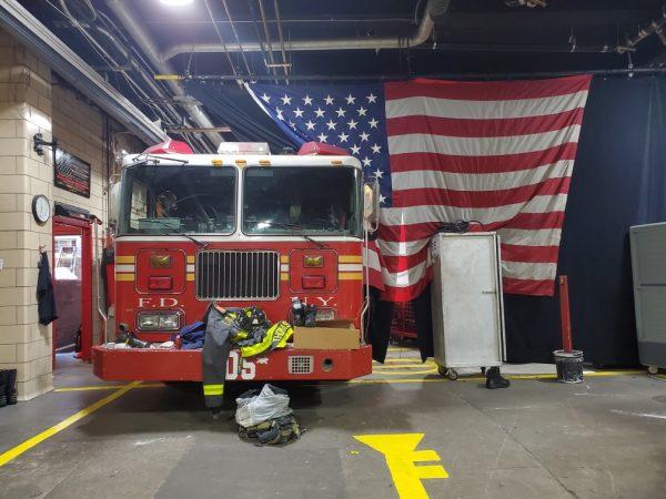 The firehouse of Engine 54, Ladder 4, Battalion 9 in Midtown Manhattan.