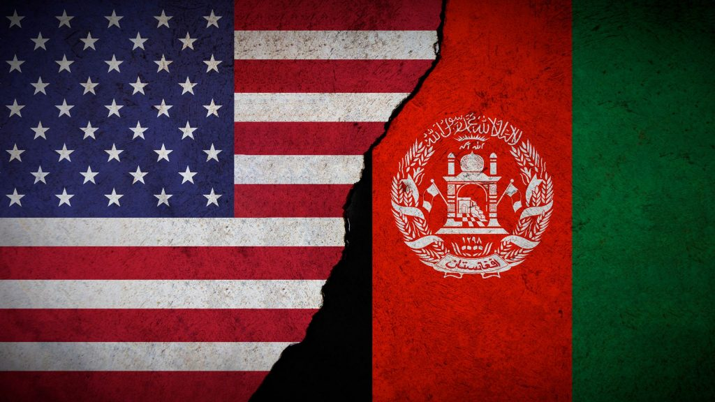 American and Afghanistan flag