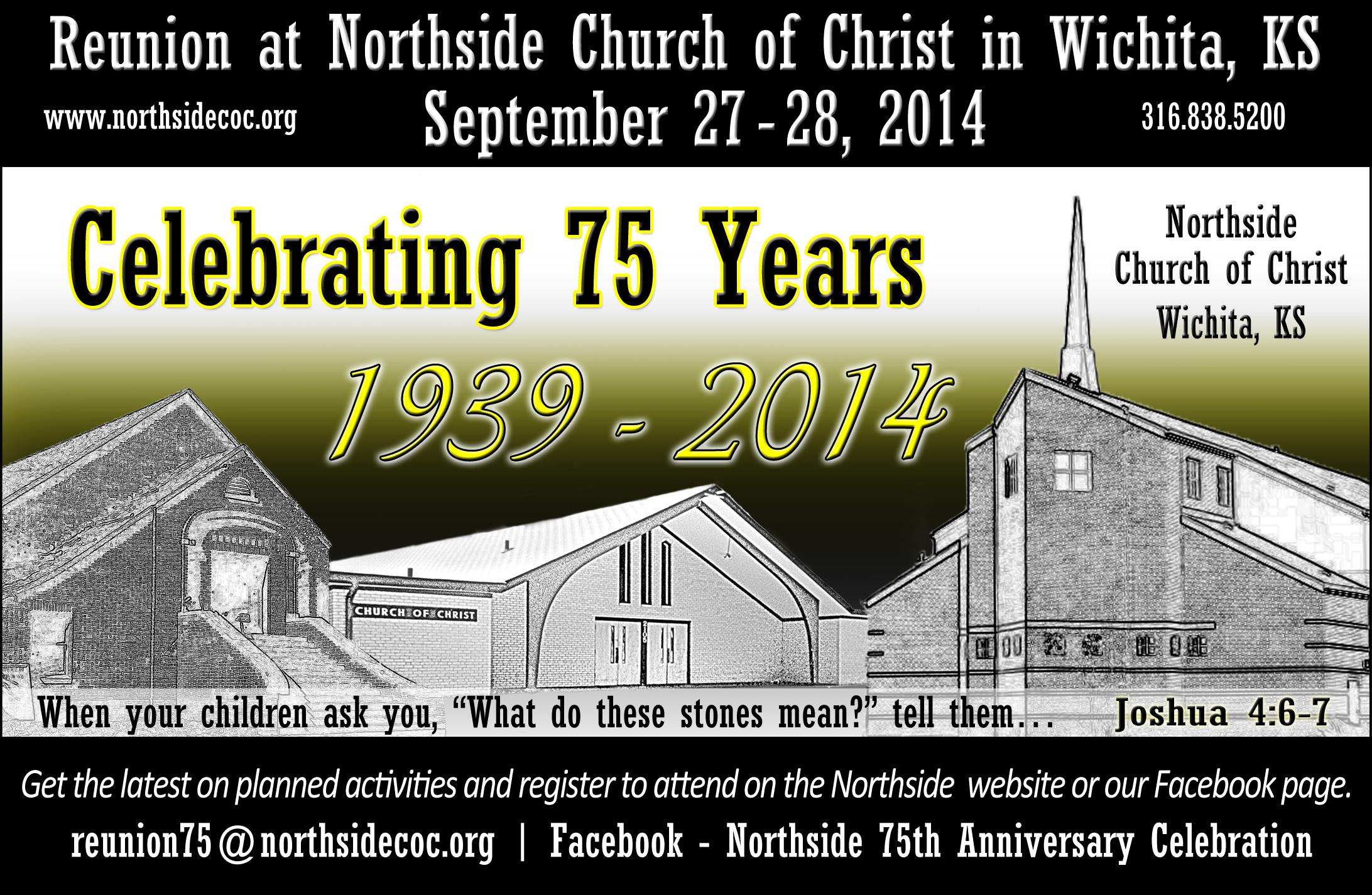 75th anniversary celebration northside church of christ wichita